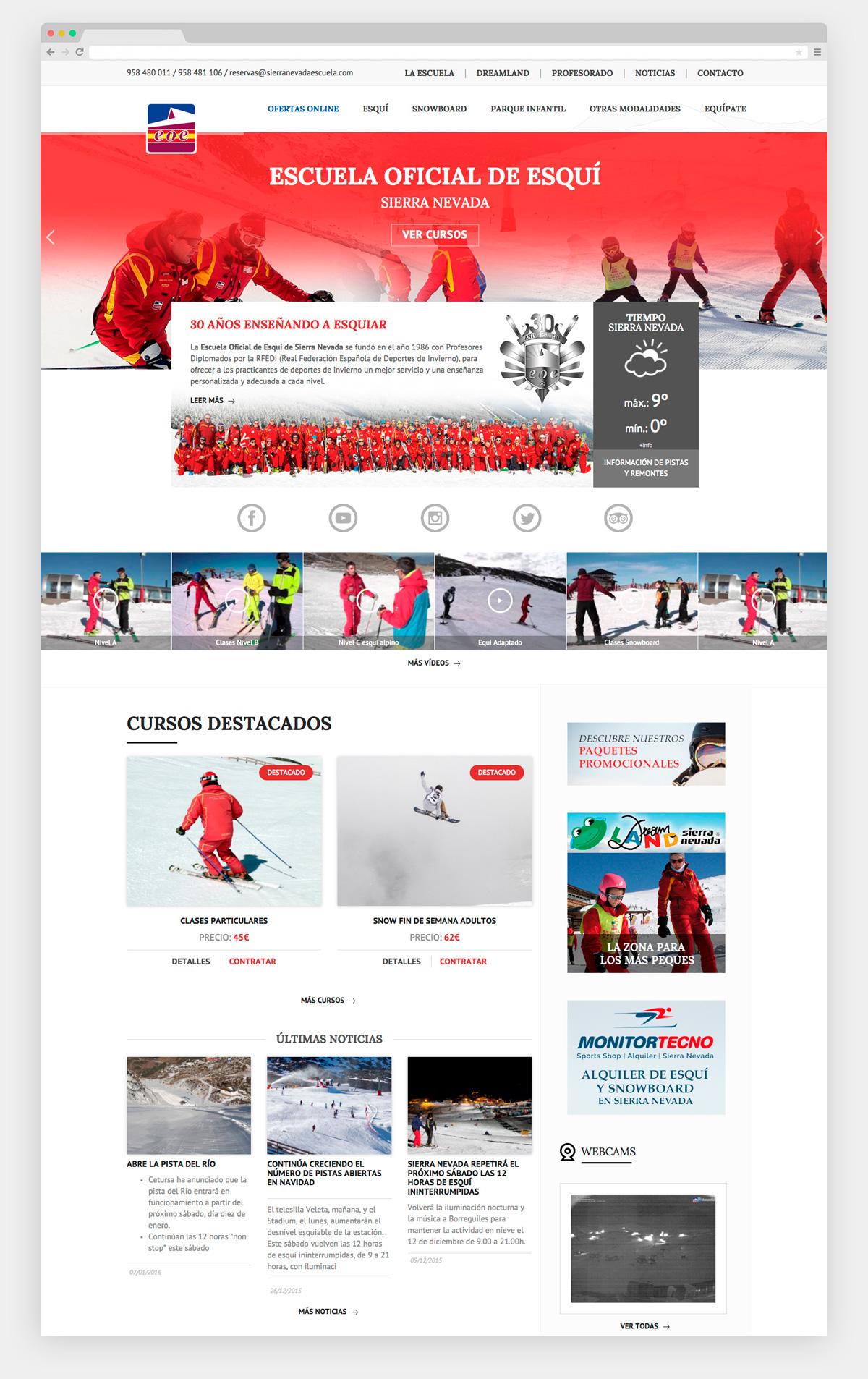 Imagen adicional 1 del proyecto Escuela oficial de esquí Sierra Nevada