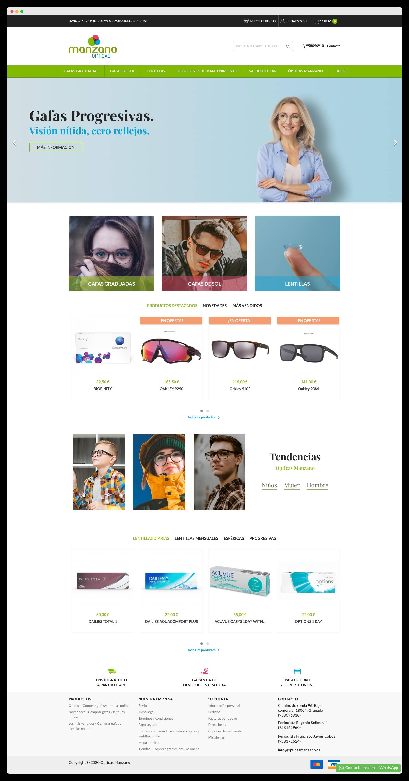 Imagen adicional 1 del proyecto Tienda Online Opticas Manzano